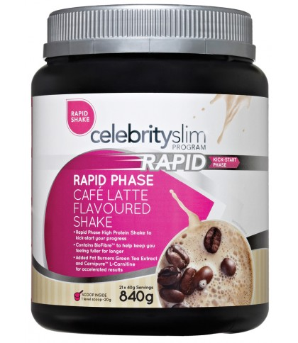 Celebrity Slim Rapid - Cafe Latte 840g